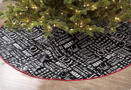Christmas Messages Chalkboard Style Rug Tree Skirt