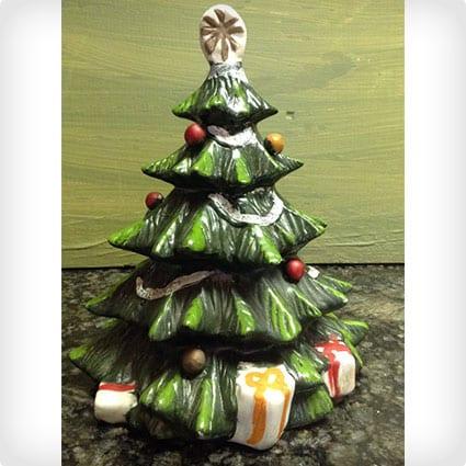 Christmas Tree Music Box Vintage Decoration