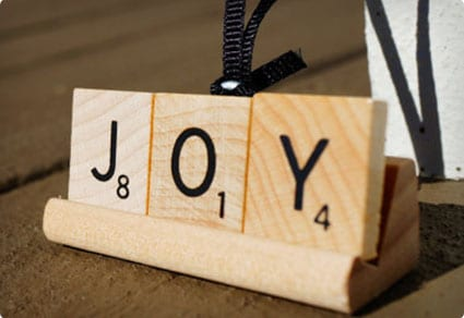 Christmas Tree Ornament SCRABBLE