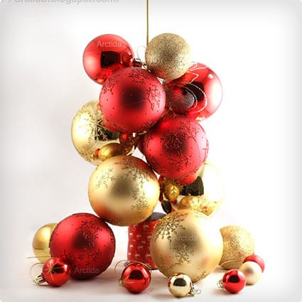 Christmas Tree Ornament Tabletop Centerpiece