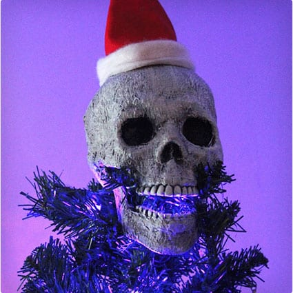 Creepy Skull Christmas Tree Topper