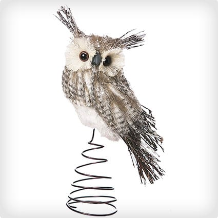 Cypress Home Bristol Owl Tree Topper