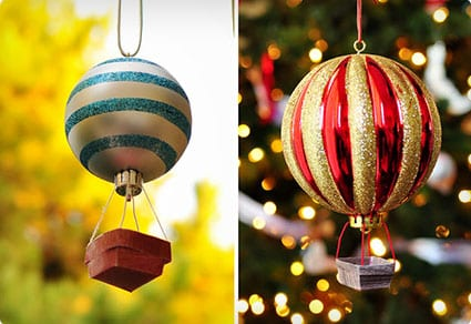 DIY Hot Air Balloon Ornaments