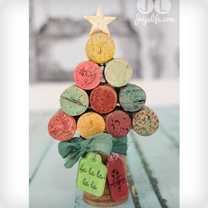 DIY Wine Cork Christmas Tree with Faber Castell