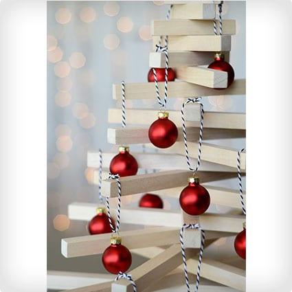 DIY Wooden Tabletop Christmas Tree