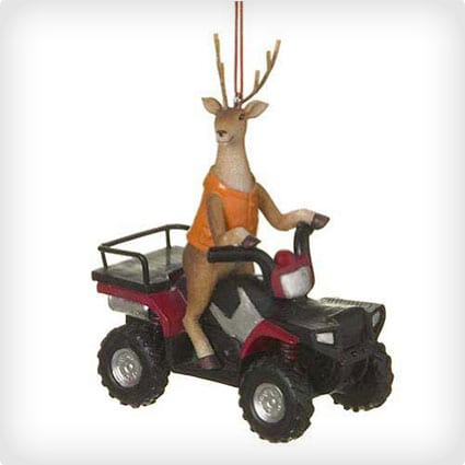 Deer Hunter Buck on ATV Four Wheeler