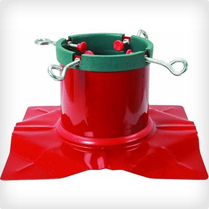 Extreme Heavy Duty Red Steel Christmas Tree Stand