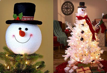 Frosty Snowman Top Hat Christmas Tree Topper