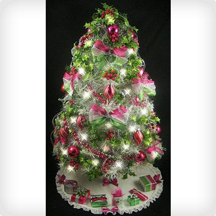 Fully Decorated Tree With Tree Skirt