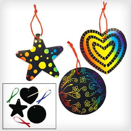 Fun Express Magic Color Scratch Ornaments Craft Kit
