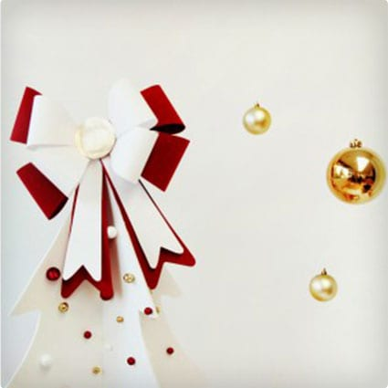 Giant Bow Christmas Tree Topper