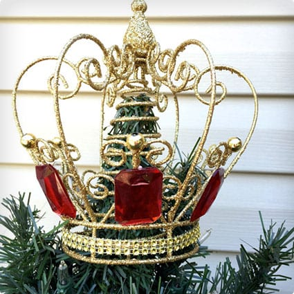 Golden Crown Christmas Tree Topper