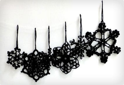 Gothic Christmas tree ornaments Set of 6