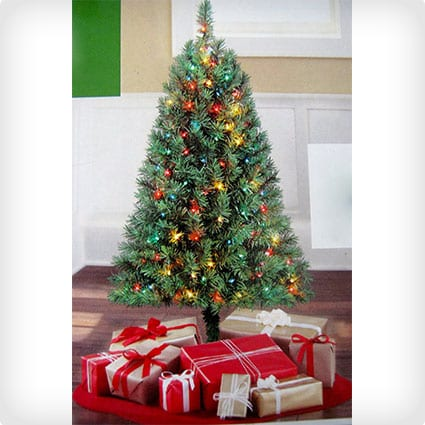 Green Four Foot Indiana Spruce Artificial Tree