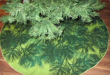 Green Marimekko Tree Skirt