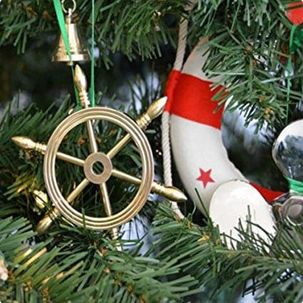 Hampton Nautical Brass Ship Wheel