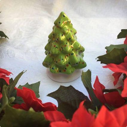 Hand Painted Ceramic Mini Christmas Tree