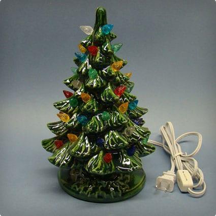 Handmade Green Christmas Ceramic Tree