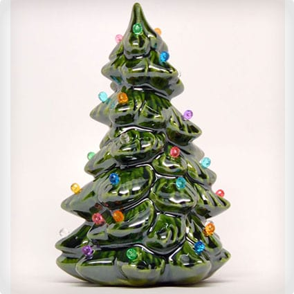 Handmade Nostalgic Ceramic Christmas Tree with Lights