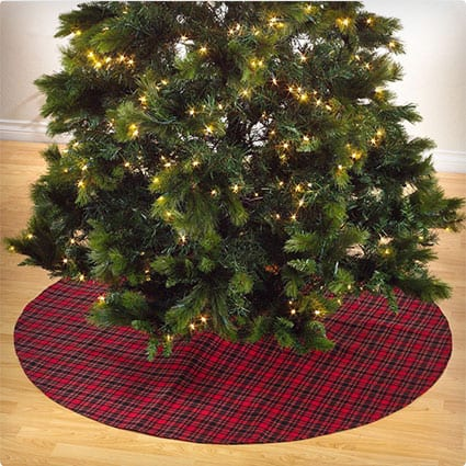 Highland Holiday Decor Plaid Design Christmas Tree Skirt, One Piece