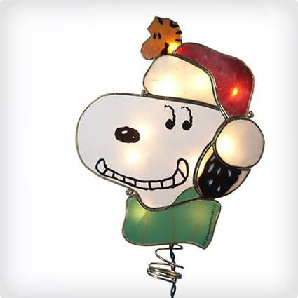 Kurt Adler Snoopy Lighted Treetop Figure