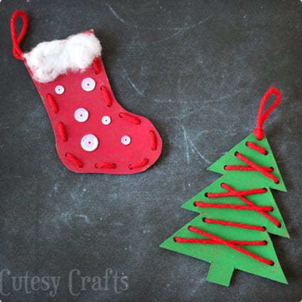 Lacing Ornaments