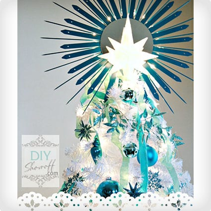 Lighted Starburst Mirror Christmas Tree Topper