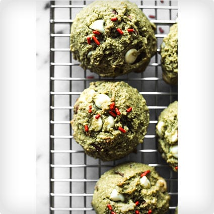 Matcha Cookies with White Chocolate and Pecans