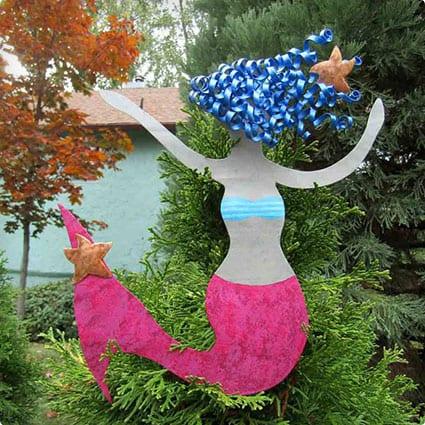 Metal Art Mermaid Christmas Tree Topper