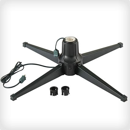 Metal Rotating & Powered Christmas Tree Stand With Adaptors