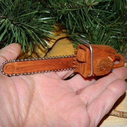 Mini Chainsaws Cottonwood Bark Wood Carving