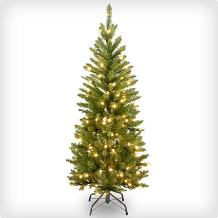 National Pre-Lit Kingswood Fir Pencil Tree With 150 Clear Lights