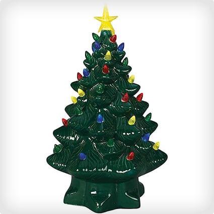 Nostalgic Lighted Ceramic Christmas Tree