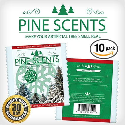 PINE SCENTS 10-pack : All Natural Pine Infused Ornaments