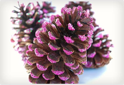 Pink Pinecone Ornaments