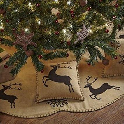 Last Name Hand Painted Initial personalized Christmas Monogramed Tree Skirt burlap tree skirt FREE SHIPPING Burlap Tree Skirt Custom Tree Skirt