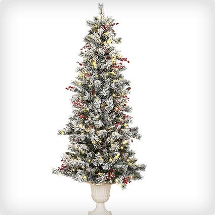 Pre-Lit Artifical Tree With Pine Cones And 200 LED Lights
