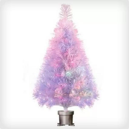 Pre-Lit White Fiber Optic Artificial Christmas Tree