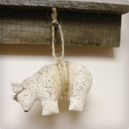 Primitive Bear Ornament Rustic