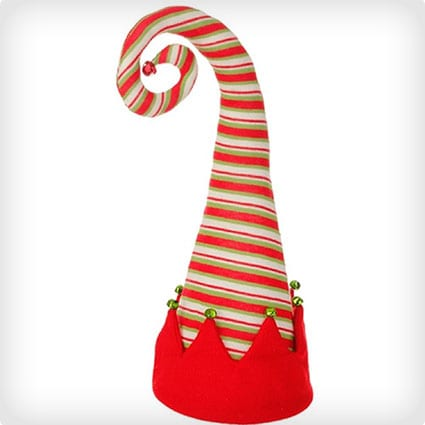 Red Peppermint Striped Christmas Tree Topper