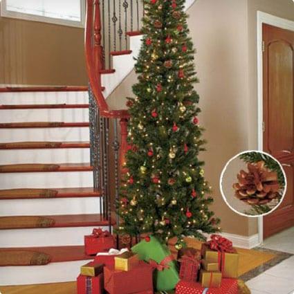 Seven Foot Slim Pre-lit Christmas Tree
