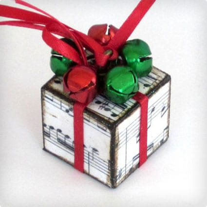 Sheet Music Christmas Tree Ornament