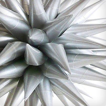 Silver Star Urchin Ornament Modern