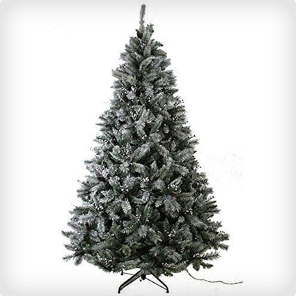 Snowy Everest Pine Cone Tree with 750 LED Lights
