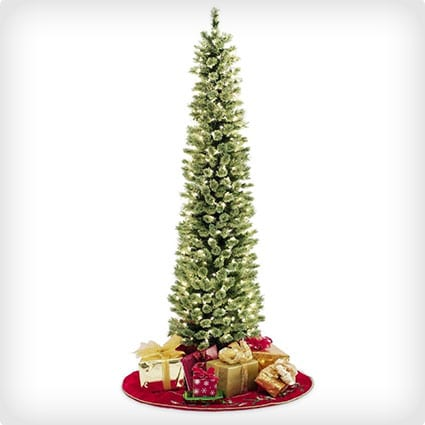 Soft Feel Touch Pencil Slim Christmas Tree with Stay Lit Lights