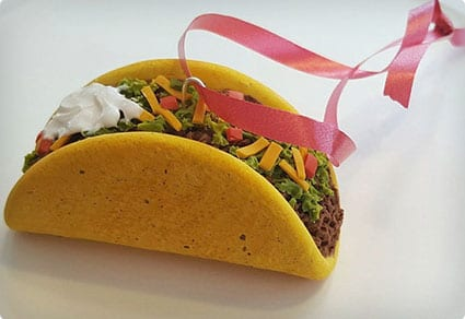 Taco Christmas Tree Ornament,