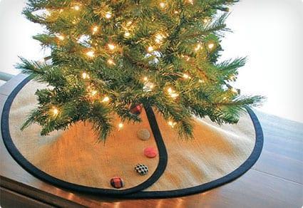 Tailored Pencil Christmas Tree Skirt