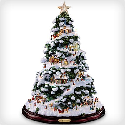 Thomas Kinkade Village Christmas Artificial Tabletop Tree