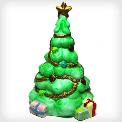 Vintage Bisque Porcelain Christmas Tree Decoration