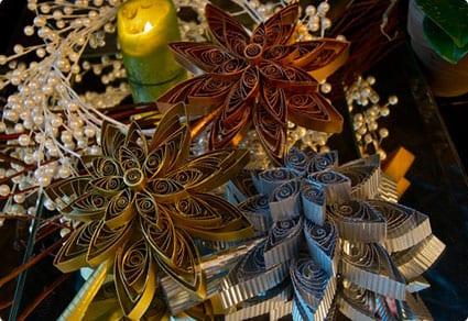 Vintage Style Quilled Star Tree Topper
